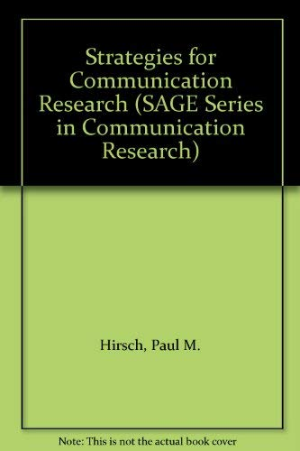 9780803908925: Strategies for Communication Research (SAGE Series in Communication Research)