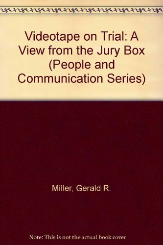 9780803909670: Videotape on Trial: A View from the Jury Box (People and Communication Series)
