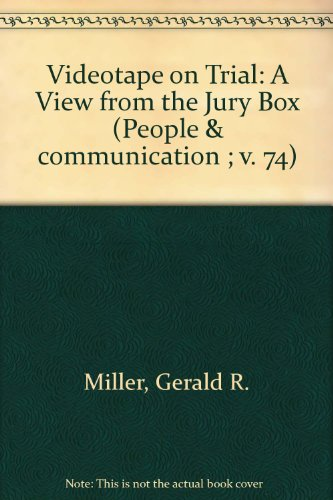 9780803909687: Videotape on Trial: A View from the Jury Box (People and Communication Series)