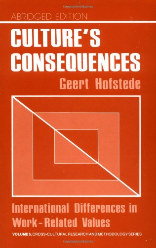 9780803913066: Cultures Consequences: International Differences in Work-Related Values