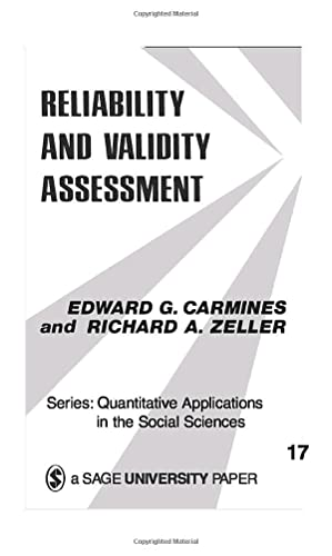 9780803913714: Reliability and Validity Assessment (Quantitative Applications in the Social Sciences)