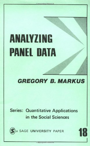 9780803913721: Analyzing Panel Data (Quantitative Applications in the Social Sciences)