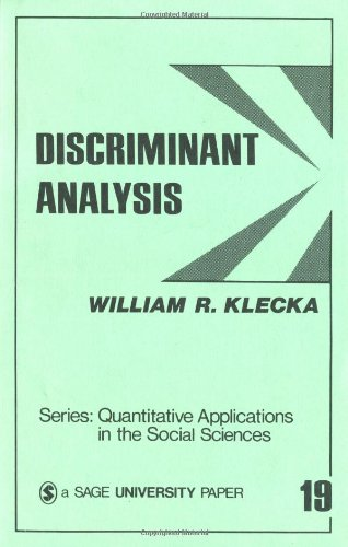 9780803914919: Discriminant Analysis (Quantitative Applications in the Social Sciences)