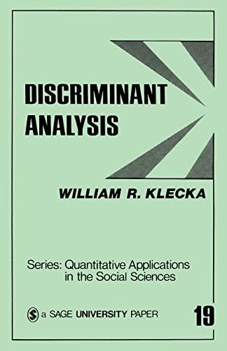 9780803914919: Discriminant Analysis