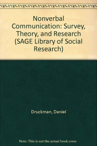 9780803916524: Nonverbal Communication: Survey, Theory, and Research (SAGE Library of Social Research)