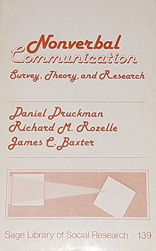 9780803916531: Nonverbal Communication: Survey, Theory, and Research (SAGE Library of Social Research)