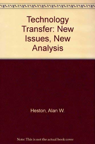9780803917064: Technology Transfer: New Issues, New Analysis