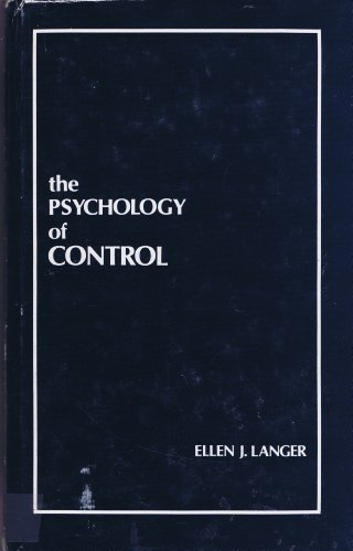 9780803919624: The Psychology of Control