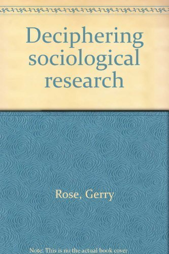 9780803920422: Deciphering sociological research