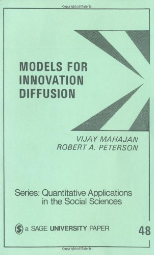 9780803921368: Models for Innovation Diffusion (Quantitative Applications in the Social Sciences)