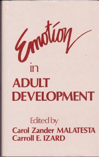 9780803921566: Emotion in Adult Development