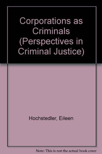 9780803921597: Corporations as Criminals