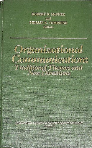 9780803921863: Organizational Communication: Traditional Themes and New Directions (SAGE Series in Communication Research)