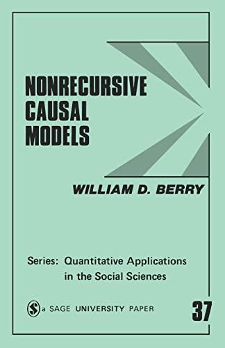 9780803922655: Nonrecursive Causal Models (Quantitative Applications in the Social Sciences)