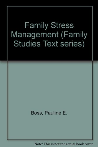 9780803923805: Family Stress Management (Family Studies Text series)