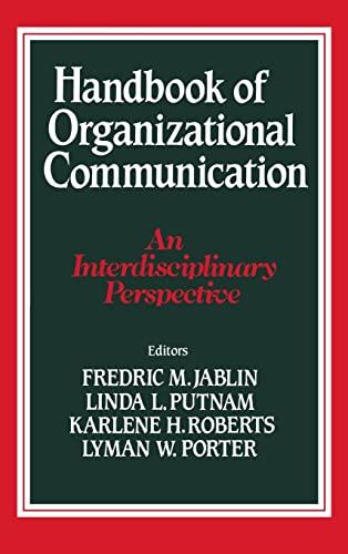 9780803923874: Handbook of Organizational Communication: An Interdisciplinary Perspective