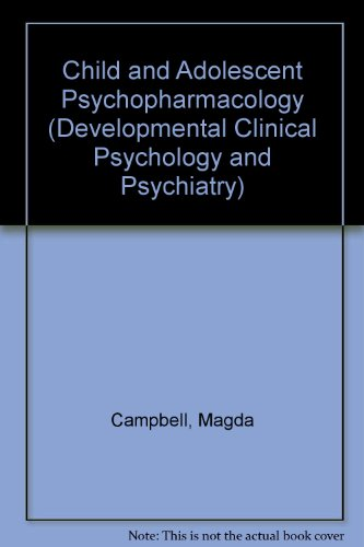 9780803924635: Child and Adolescent Psychopharmacology (Developmental Clinical Psychology and Psychiatry)
