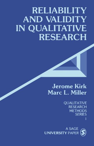 9780803924703: Reliability and Validity in Qualitative Research (Qualitative Research Methods)