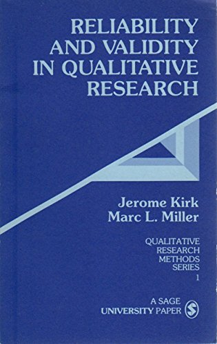 9780803925601: Reliability and Validity in Qualitative Research (Qualitative Research Methods)