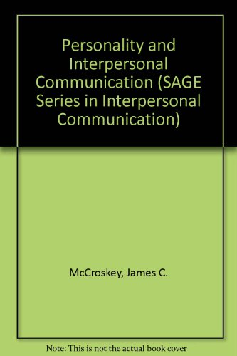 9780803926455: Personality and Interpersonal Communication (SAGE Series in Interpersonal Communication)