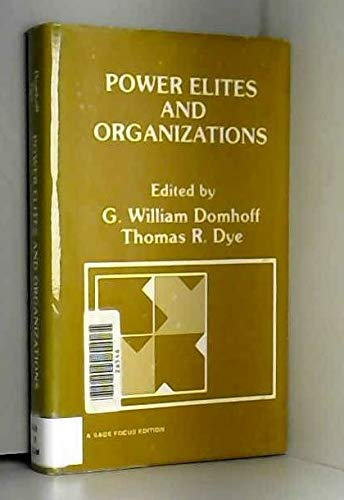 9780803926813: Power Elites and Organizations
