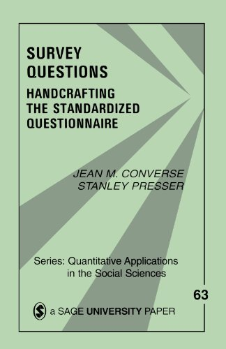 9780803927438: Survey Questions: Handcrafting the Standardized Questionnaire (Quantitative Applications in the Social Sciences)
