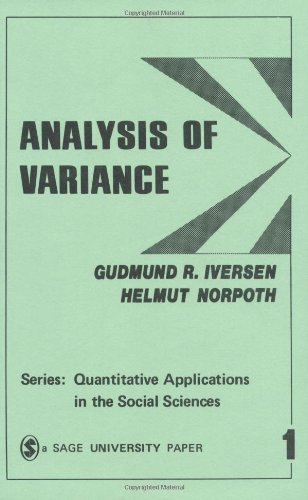 9780803930018: Analysis of Variance (Quantitative Applications in the Social Sciences)