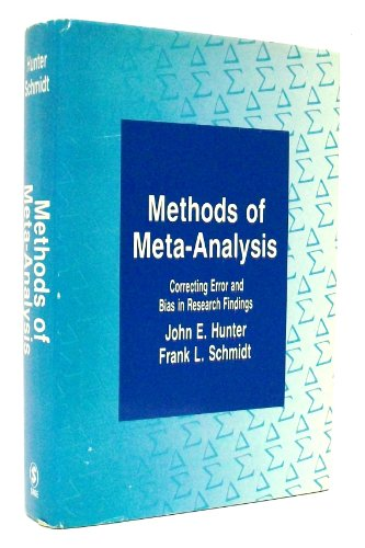 9780803932227: Methods of Meta-Analysis: Correcting Error and Bias in Research Findings