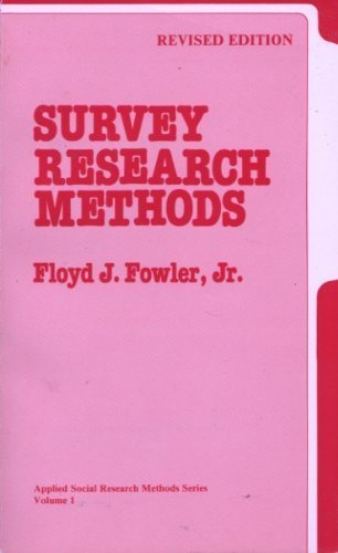 9780803932937: Survey Research Methods (Applied Social Research Methods)