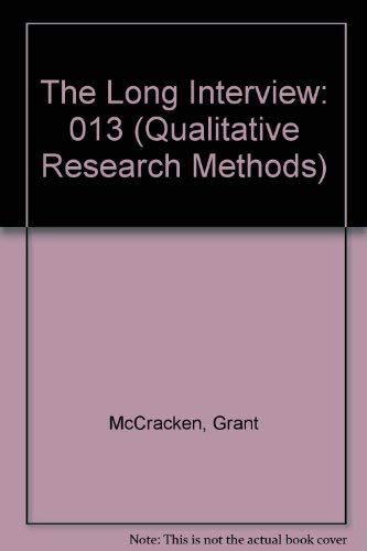 9780803933521: The Long Interview (Qualitative Research Methods)