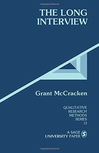 9780803933538: MCCRACKEN: THE LONG INTERVIEW (P) (Qualitative Research Methods)