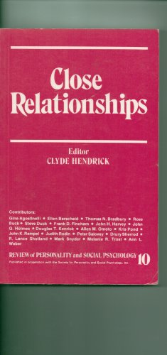 9780803933781: Close Relationships: Review of Personality and Social Psychology, No 10