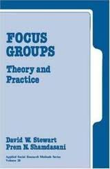 9780803933897: Focus Groups: Theory and Practice