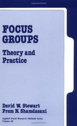 9780803933903: Focus Groups: Theory and Practice (Applied Social Research Methods)