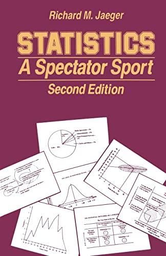 9780803934214: Statistics: A Spectator Sport (Written Communication Annual)