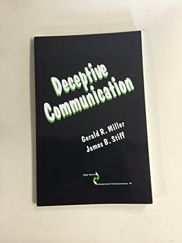 9780803934849: Deceptive Communication (SAGE Series in Interpersonal Communication)
