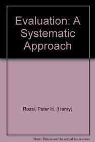 9780803934894: Evaluation: A Systematic Approach