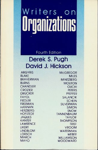 9780803935082: Writers on Organiizations