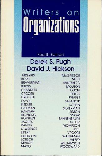 9780803935082: Writers on Organiizations
