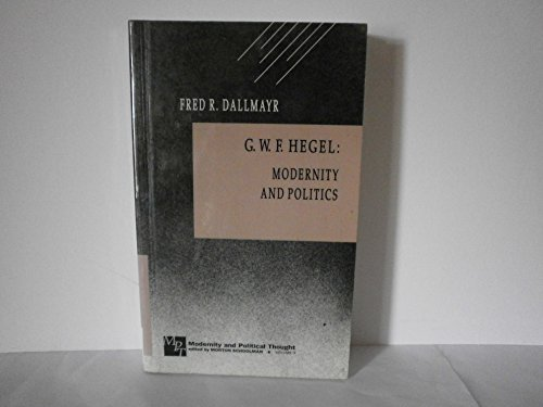 9780803936164: G.W.F .Hegel: Modernity and Politics (Modernity and Political Thought)