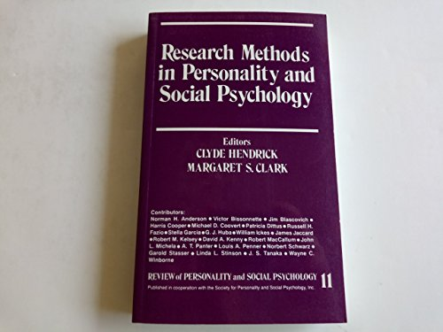 9780803936492: Research Methods in Personality and Social Psychology (The Review of Personality and Social Psychology) (v. 11)