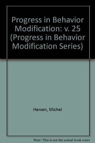 9780803937017: Progress in Behavior Modification: v. 25 (Progress in Behavior Modification Series)