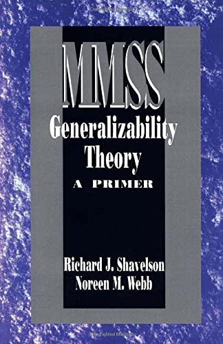 9780803937451: Generalizability Theory: A Primer: 001 (Measurement Methods for the Social Science)