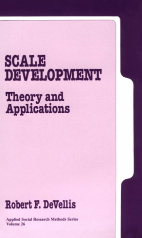 9780803937765: Scale Development: Theory and Applications (Applied Social Research Methods)