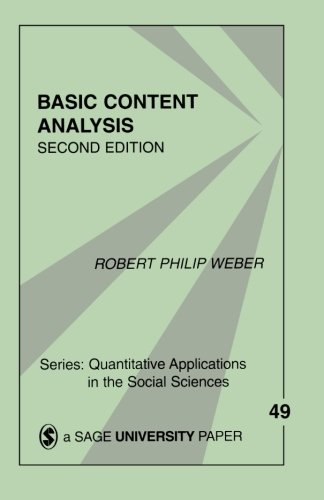 9780803938632: Basic Content Analysis (Quantitative Applications in the Social Sciences)