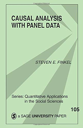 9780803938960: Causal Analysis with Panel Data (Quantitative Applications in the Social Sciences)