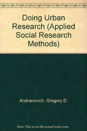 9780803939882: Doing Urban Research (Applied Social Research Methods)