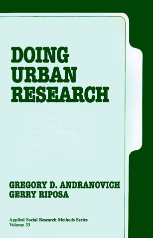 9780803939899: Doing Urban Research (Applied Social Research Methods)