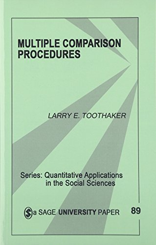 Multiple Comparison Procedures (Quantitative Applications in the Social Sciences) (0803941773) by Larry E. Toothaker