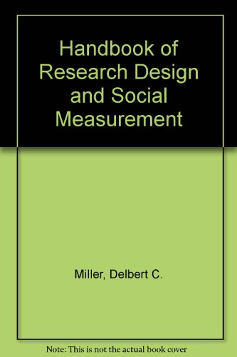 9780803942196: Handbook of Research Design and Social Measurement